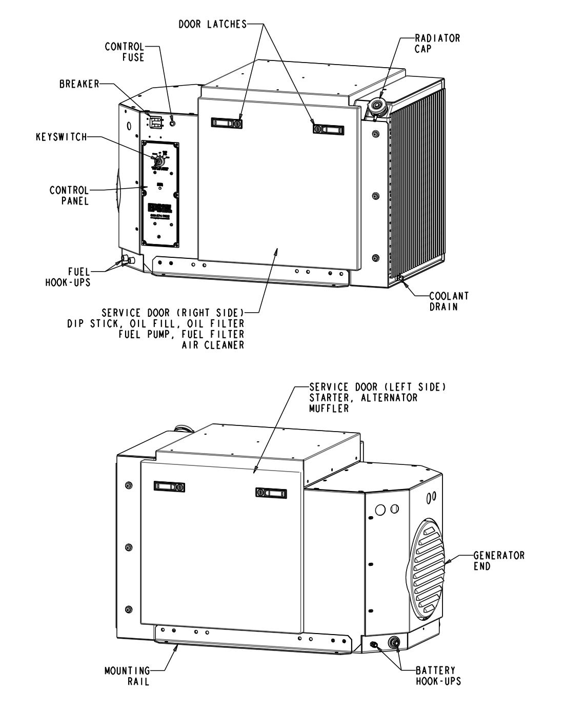 EPS 9kW Enclosed Generator