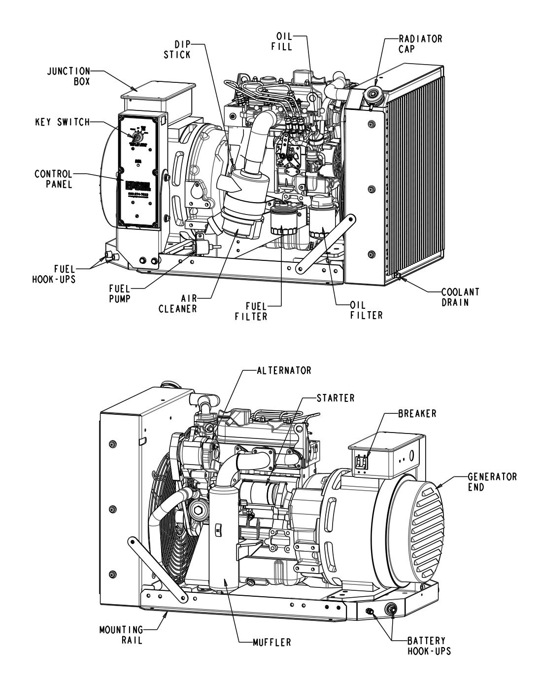 EPS 9 kW Open Generator
