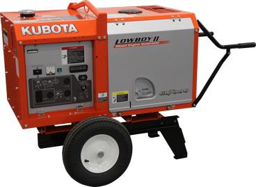 Kubota GL Generator shown with optional wheel kit