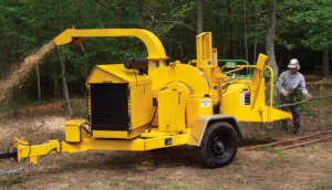 EPS Chipper Power Unit In Use