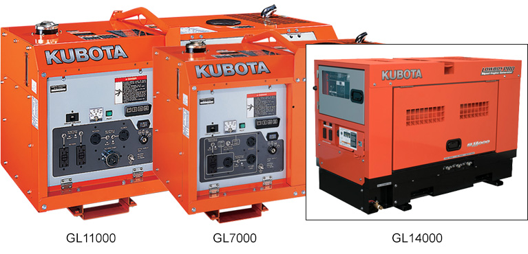 Kubota GL Series Generators