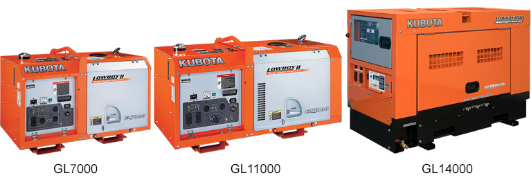 Kubota GL Series Generators