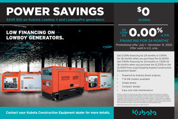 Special Financing Offer from Kubota