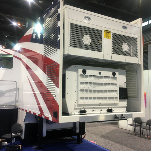 Mobile Medical Trailer with EPS 45kW Generator